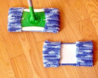 Swiffer wet and dry cover, eco friendly mop cover, crochet, pure cotton, durable, absorbent