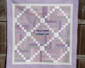 30's Reproduction Quilt in Shades of Purple