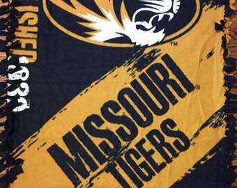 Missouri Tigers Fleece Tie Blanket