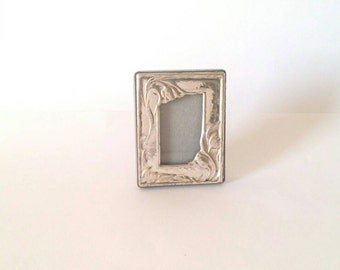 Small sterling silver picture frame, tiny silver frame, sterling silver picture frame