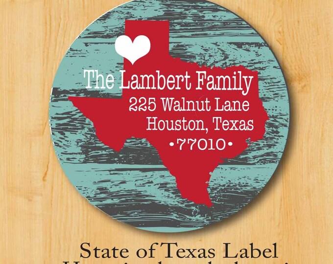 Return Address Sticker | Custom Stickers | Personalized stickers | Round Address Label | State Label | Rustic Address Label