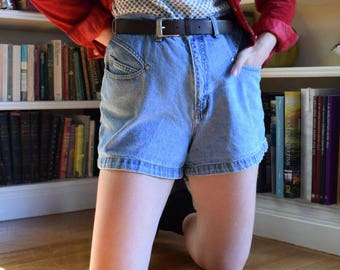 Denim Slanted Pocket Shorts