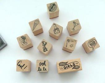 Stamp set stamp girls