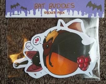 Bat Buddies - 4 Sticker Pack