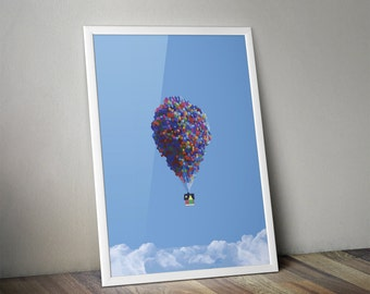 Digital Download Pixar Disney Up Art Poster 8x10 Up Disney Pixar