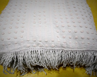 Chenille Bedspread, Chenille Fabric, Green Bedding, Vintage Chenille Bedspread,Vintage Bedspread,Cutter Quilt,Vintage Bedding,Vintage Fabric