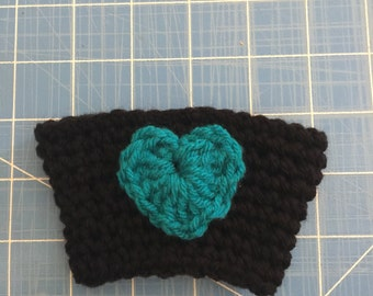 Coffee cup cozy with heart