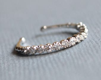 Mid finger ring silver