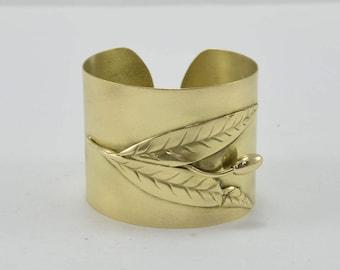 bronze olive bracelet & earrings