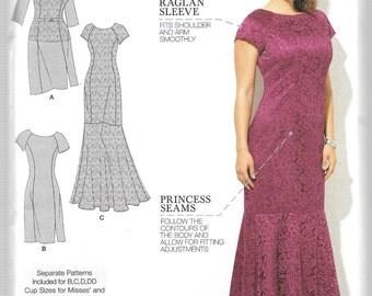 Simplicity Amazing Fit Pattern 1249 LACE OVERLAY DRESS Women's 20W 22W 24W 26W 28W