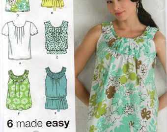 SUMMER TRENDS Simplicity Pattern 2892 TOPS Misses  6 8 10 12 14