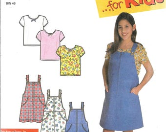 Simplicity It's So Easy Pattern 8175 JUMPER & KNIT TOP Girls' Sizes 7 8 10 12 14 16