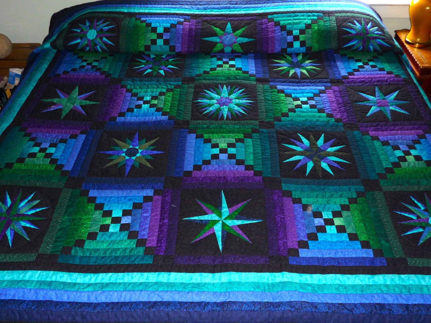 Moon Glow Quilt Amish Made Quilt In Amazing Colors