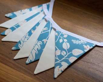 Bunting Flags - Blue and White