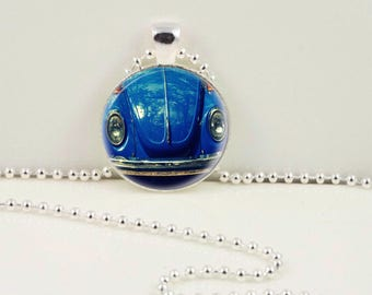 Punch Buggy Blue Necklace or Keychain