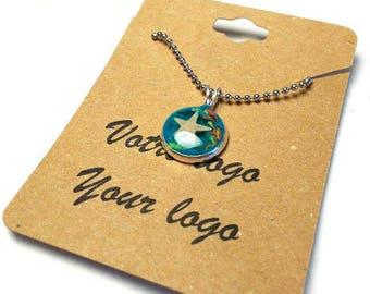 27 custom cardstock labels for necklace,custom labelstag product,your logo,handmade cut label,kraft cardstock