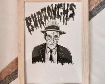 William Burroughs Illustration