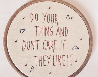 "Tina Fey 6"" Quote Embroidery"