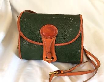 Dooney & Bourke Green Leather Purse Brass Feet
