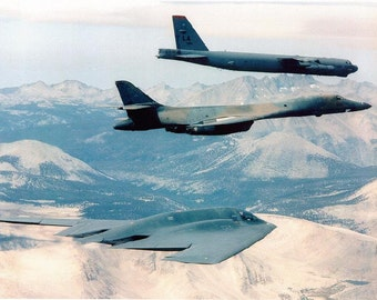 B-1B B-2 and B-52, Usaf Airplanes, Aircraft, B52 Bomber, B1, B2 Air Force