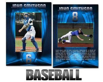 "Baseball ""Heroes"" Cards Templates"