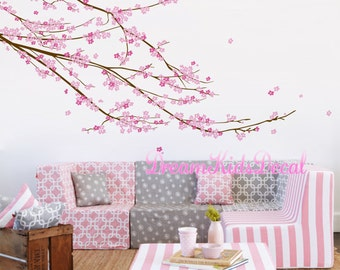 Cherry blossom Tree Wall Decal, Baby girl nursery wall decal, Wall Sticker, tree decals, Nursery decoration-D220