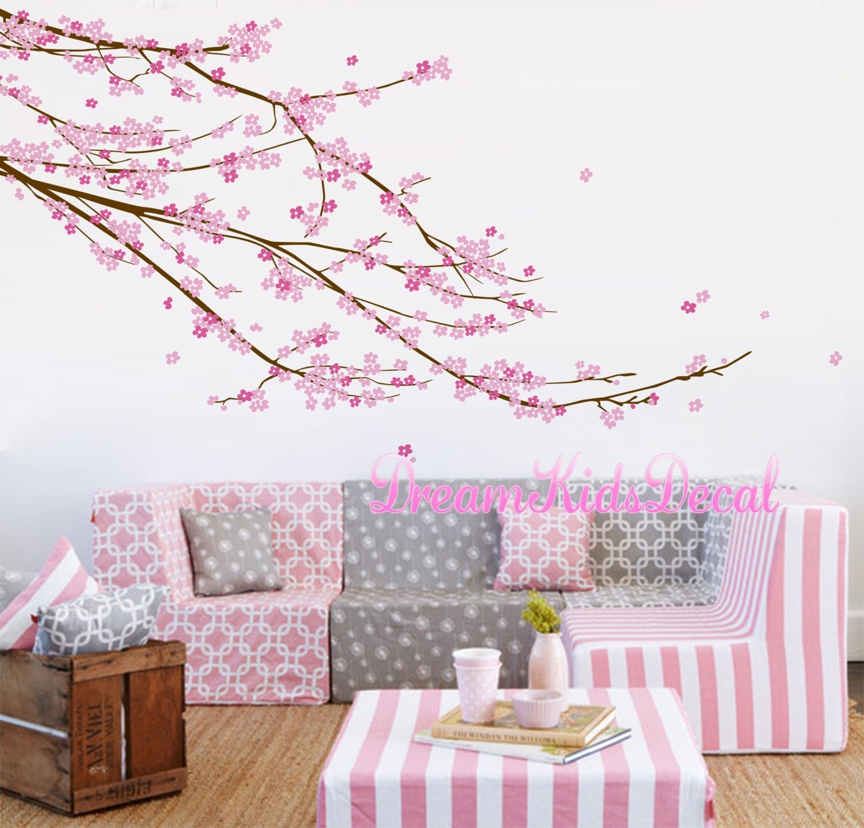 Fleur de cerisier arbre sticker mural chambre de bébé fille