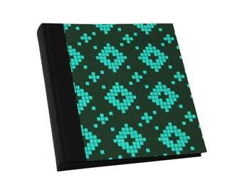 photo album with fabric green
