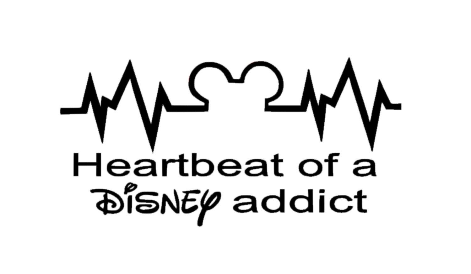 Heartbeat Of A Disney Addict Decal Disney Decal Disney