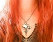 Final Fantasy 8 Necklace - Squall Necklace - Lionheart Necklace - Griever Necklace - Lion Heart - Final Fantasy Jewelry - Lion Necklace featured image