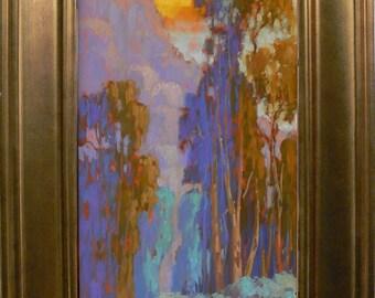 California Landscape #4.  Original oil painting by listed artist James Osorio.  California Plein air. Impressionism.