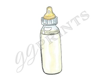 Baby Bottle Clipart // Planner Clipart // Baby Shower