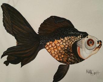Watercolor Goldfish PRINT