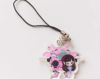 Sharodactyl Dva Heart Phone Charm