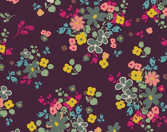 INDIE BOHEME By Pat Bravo for Art Gallery Fabrics Blooming Soul Plum