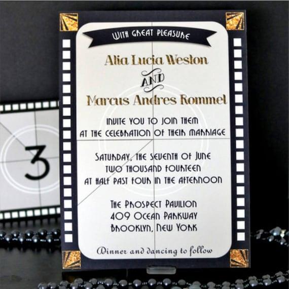 Printable invitation Old Hollywood Wedding Movie Party – Hollywood Themed Birthday Invitations