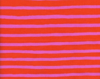 Pre-Sale- Cheshire Stripe in Orange- Wonderland by Rifle Paper Co for Cotton and Steel