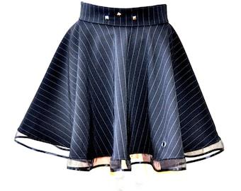 Black circle skirt, Vampire  skirt, Black gothic skirt, Skater skirt,  Short circle skirt, Steampunk skirt, Lolita skirt, Gothabilly skirt