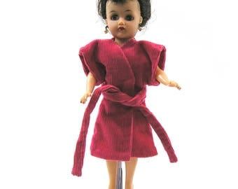 Vintage 1950s Doll Bathrobe or Coat for Little Miss Revlon Jill or Similar 10 !/2 inch Doll Handmade