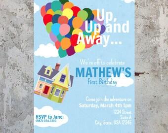 Disney Up House Birthday Invitation (Digital)