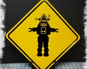 Robby the Robot - Forbidden Planet Aluminum Sign