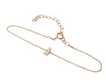Initial Bracelet Gold, Gold Initial Bracelet, Gold Chain Bracelet, Chain Bracelet, Initial Chain Bracelet, Initial Chain, Gold Letter