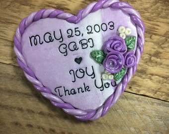 Personalized Magnet Wedding Favors, Custom Magnet Wedding Favors, Thank You Magnet Favors, wedding favours, Polymer Clay Wedding Favors