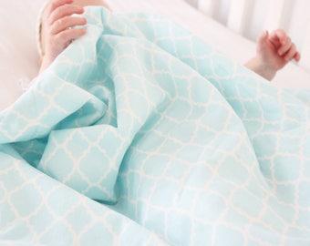 Blue Damask Baby Blanket, Blue Baby Blanket, Minky Baby Blanket, Minky Blanket, Blue Blanket, Baby Girl Blanket, Baby Boy Blanket, Toddler
