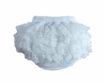 Toddler Diaper Cover, Girls Diaper cover, Baby Bloomers, Diaper Cover - Newborn Diaper Cover - White Diaper Cover, Ruffle Bloomers
