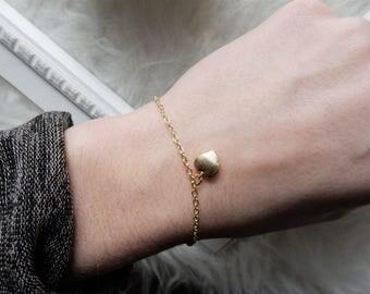 Gold Heart Bracelet | Dainty Bracelet Gold Bracelet Tiny Heart Bracelet Dainty Gold Bracelet Delicate Heart Bracelet Heart Charm Bracelet
