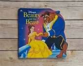 Vintage Beauty and the Beast Children's Book | 1992 Walt Disney Golden Shape Story | 90s Kids Tale With Belle and Beast | Retro Nostalgia