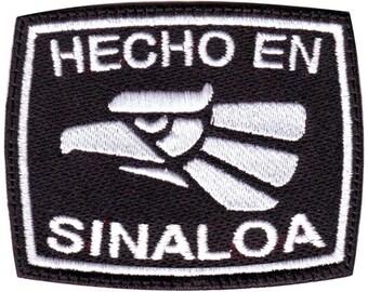 Sinaloa Hecho en Mexico Embroidered Patch