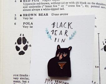 Black Bear Enamel Pins