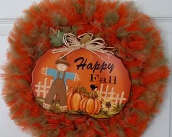 Happy Fall Tulle Wreath